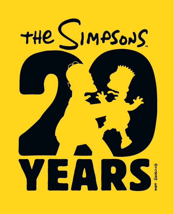 Del 1 al 100 en versión imagen Simpsons20thchokelogo_mattsig